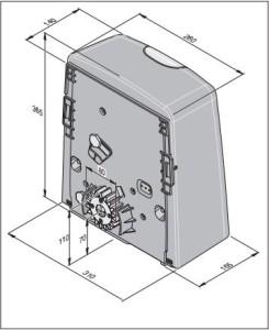 Automaatika Sommer SG1 mõõdud