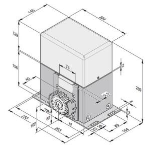 Automaatika Sommer SM40T mõõdud